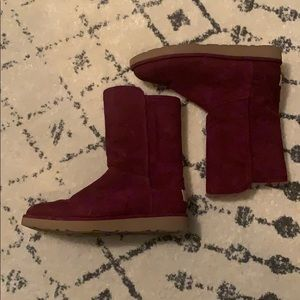 Ugg Maroon Boots